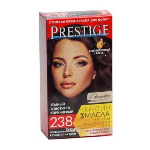 Краска для волос Prestige 238 - Темный золотисто-коричневый, 50/50 мл.