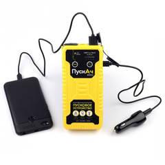 Пусковое устройство ПускАч 8000 заряжает телефон