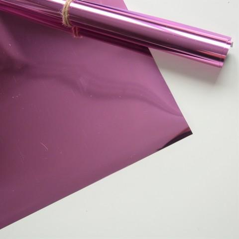 Термотрансферная пленка металлик (с эффектом фольгирования), цвет розовый 25х25 см