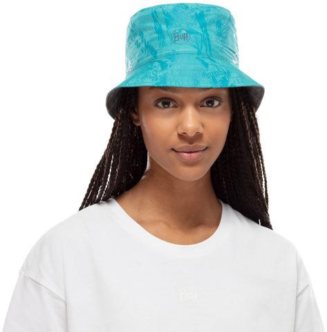 Панама двухсторонняя Buff Travel Bucket Hat Acai Grey/Turquoise фото 2