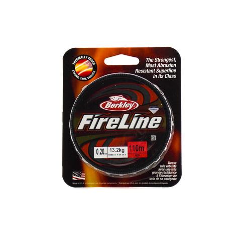 Плетеная леска Berkley Fireline Красная 110 м. 0,20 мм. 13,2 кг. Red (1308643)