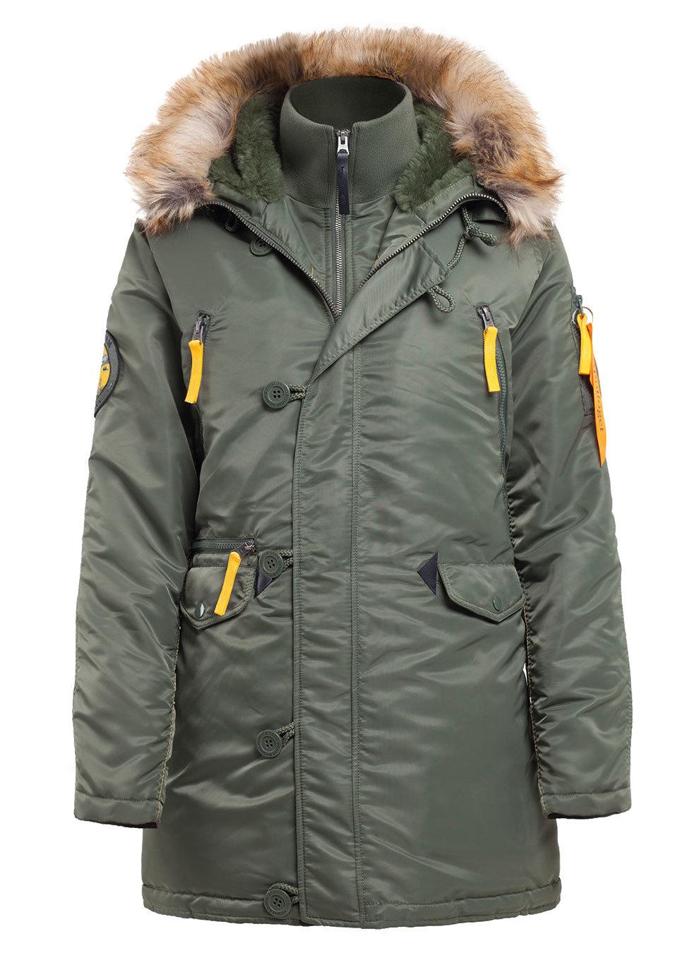 Куртка Аляска Женская - Apolloget Alaska Wmn (зеленая/желтая - s.green/yellow)