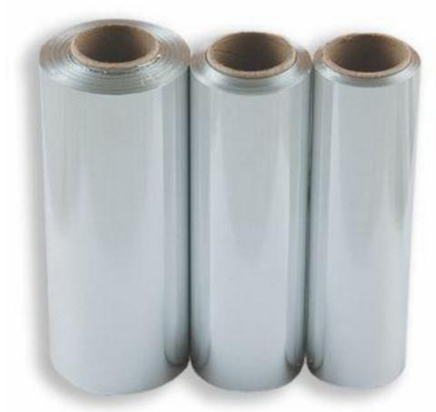 Фольга 16 мкр 12 см х 25 м серебро