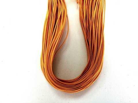 Шляпная резинка, толщина 1мм, цвет оранжевый. 1м.