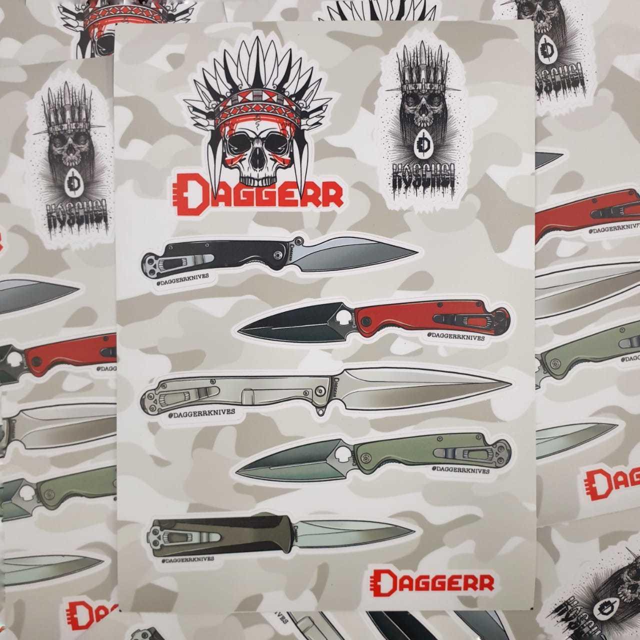 Набор стикеров DAGGERR