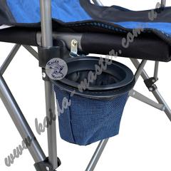 Кресло туристическое складное с подлокотниками и подстаканником