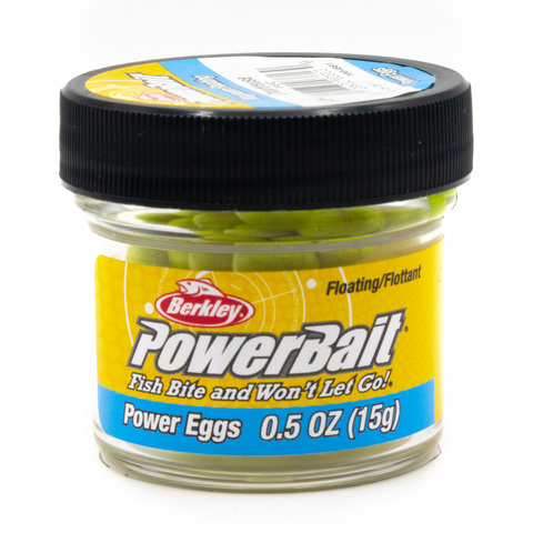 Приманка силиконовая Berkley Powerbait Dough Eggs Floating Magnum Chartreuse In Jar (1004881)