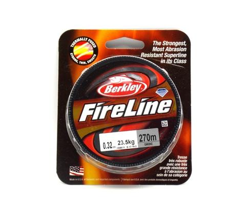 Плетеная леска Berkley Fireline Темно-серая 270 м. 0,32 мм. 23,5 кг. Smoke (1308621)