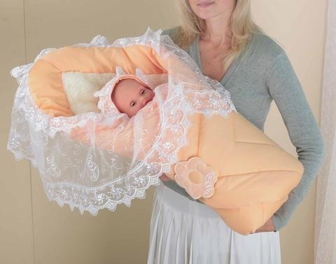Одеяло-конверт на выписку для новорожденного