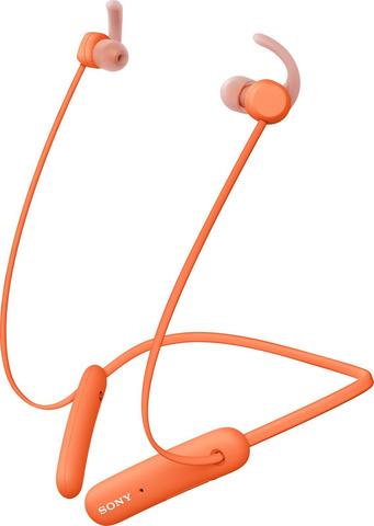 WI-SP510D беспроводные Bluetooth наушники Sony, цвет оранжевый