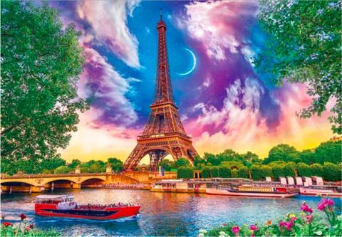 Алмазная Мозаика 40x50 Фантастическое небо над Парижем (арт. SGA10071 )