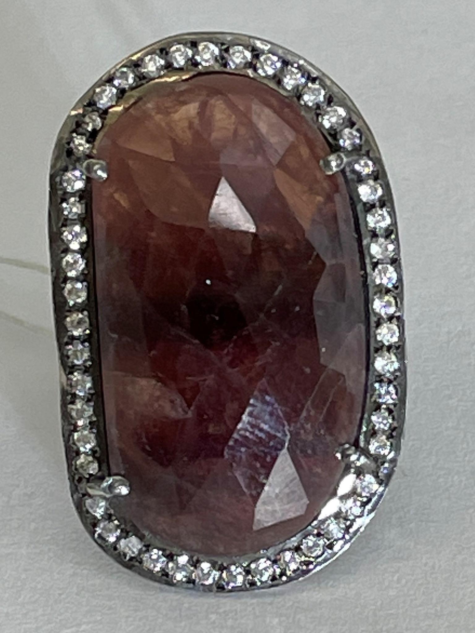 Сапфир 01 (кольцо из серебра)