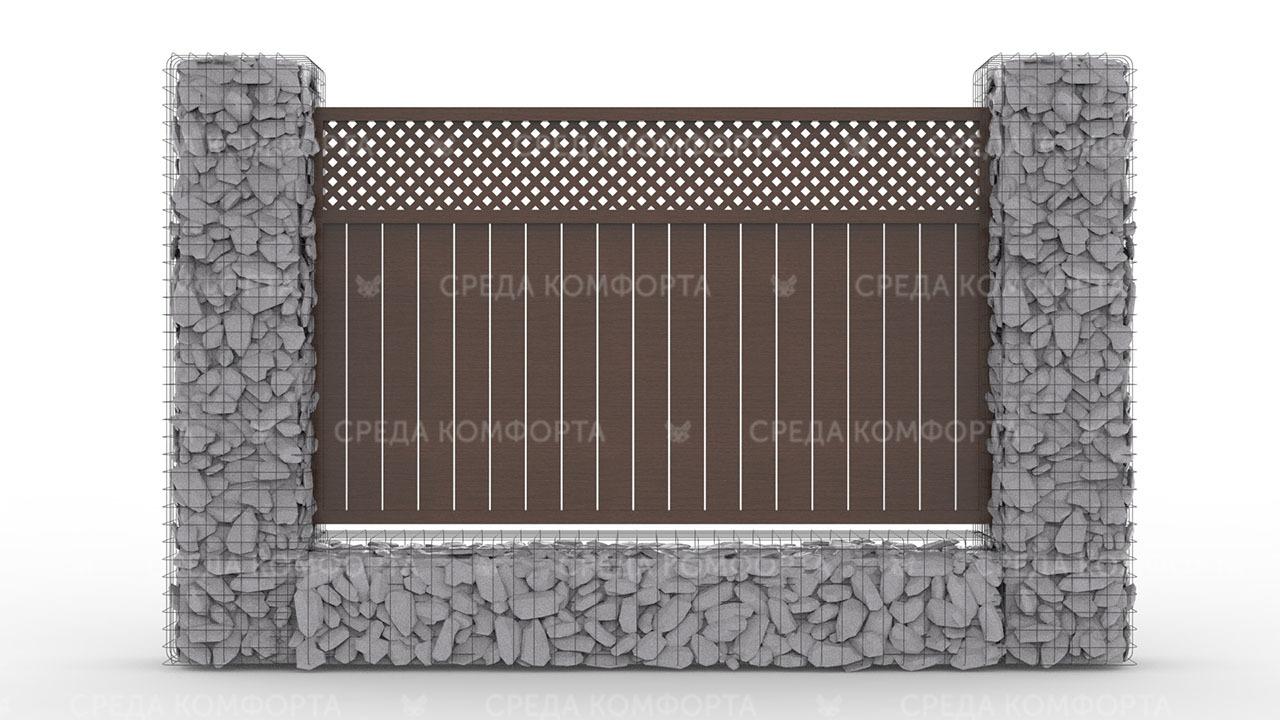 Деревянный забор ZBR0096