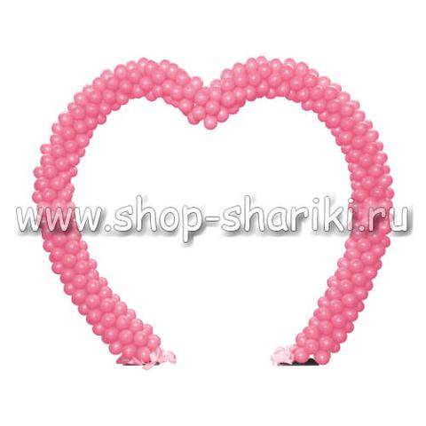 арка из шаров в виде сердца
