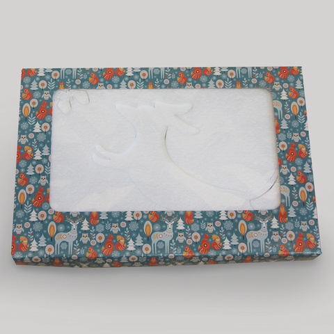 Набор фигур из пенопласта в упаковке.