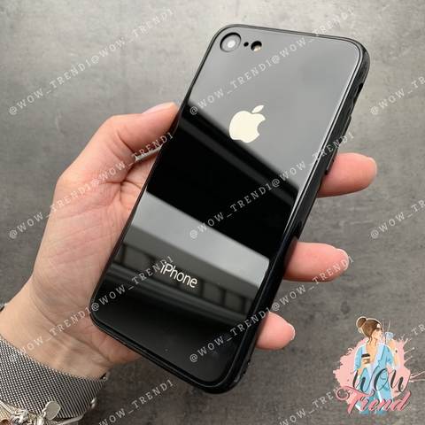 Чехол iPhone 7/8 Glass Full color Case Logo /black/