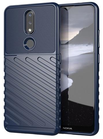 Чехол на смартфон Nokia 2.4, темно-синий цвет, высокий уровень защиты, серия Onyx от Caseport