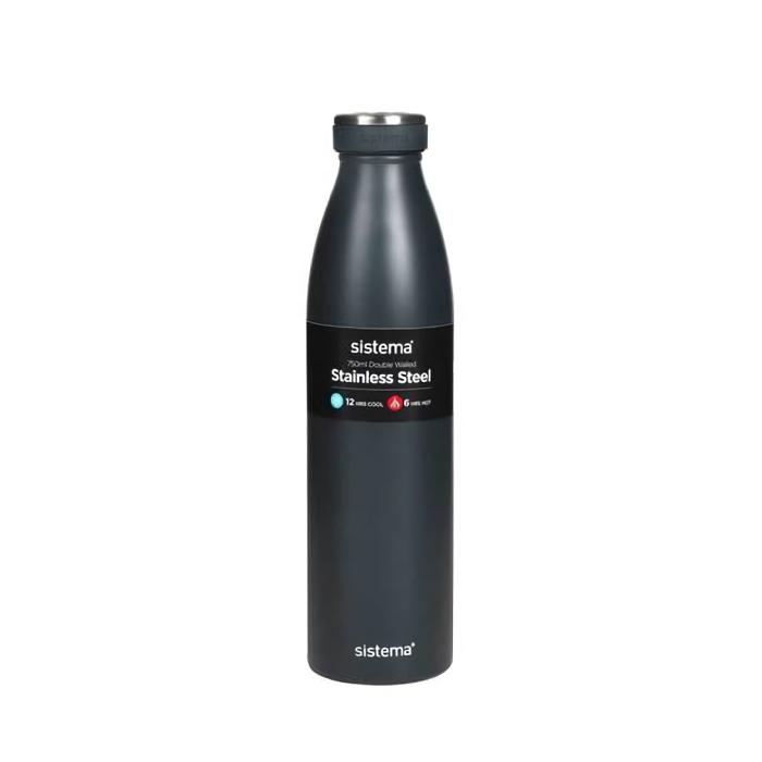 "Термобутылка Sistema ""Hydrate"" 750 мл, цвет Темно-синий"