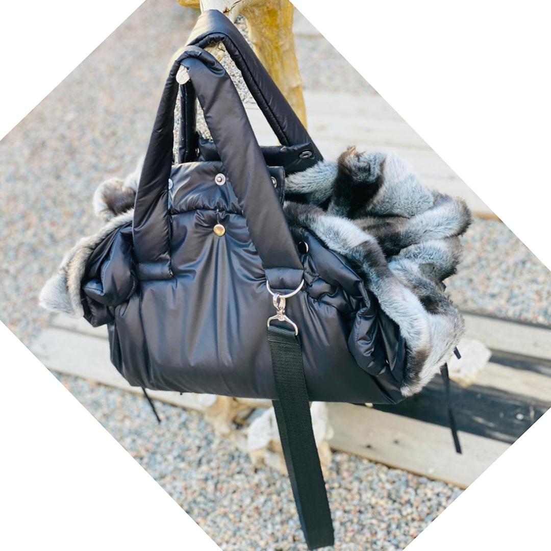 зимняя сумка для собаки
