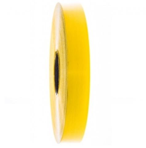 Лента полипропиленовая (размер: 19 мм х 100 м), цвет: желтый