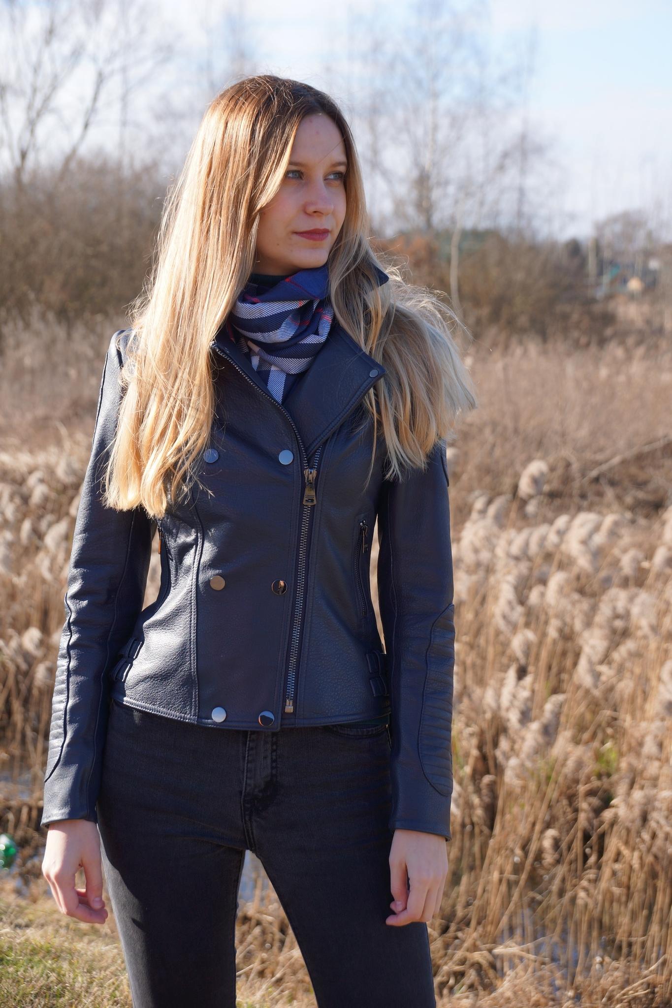 Кожаная куртка на молнии New Style