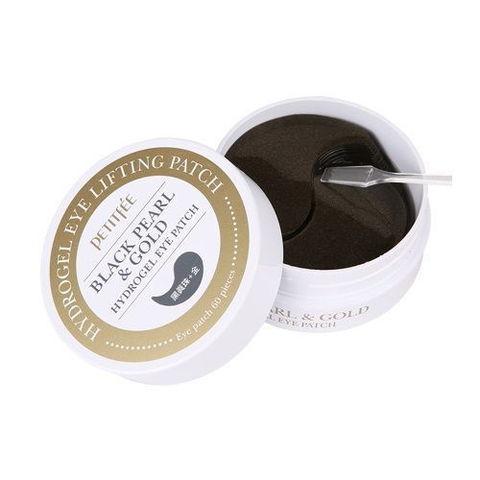 Гидрогелевые патчи для глаз ЖЕМЧУГ/ЗОЛОТО Black Pearl&Gold Hydrogel Eye Patch, 60 шт, PETITFEE