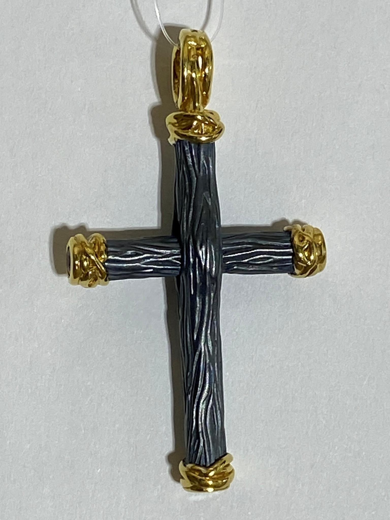 Крест Ч (подвеска из серебра)