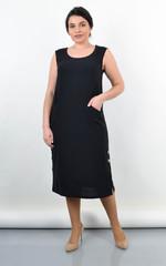 Венера. Жіноче плаття великого розміру. Чорний.