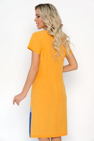 """<p>Хотите быть стильной этим летом? Тогда это платье """"в точку""""! Прямой силуэт, рукав короткий, по спинке замок.</p>"""