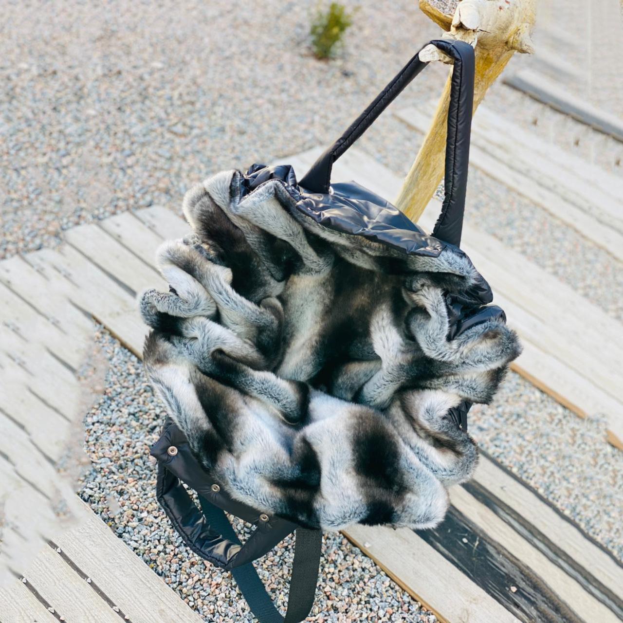 зимняя сумка для собак