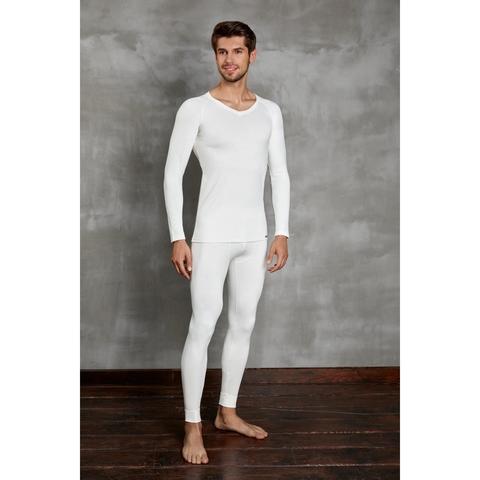 Мужская футболка с длинным рукавом термо Doreanse кремовая 2985