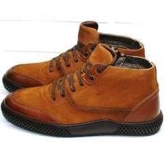 модные ботинки мужские зимние кожаные
