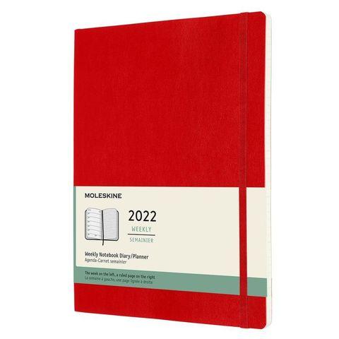 Еженедельник Moleskine (DSF212WN4) Classic Soft WKNT XL 190х250мм 144стр. мягкая обложка красный