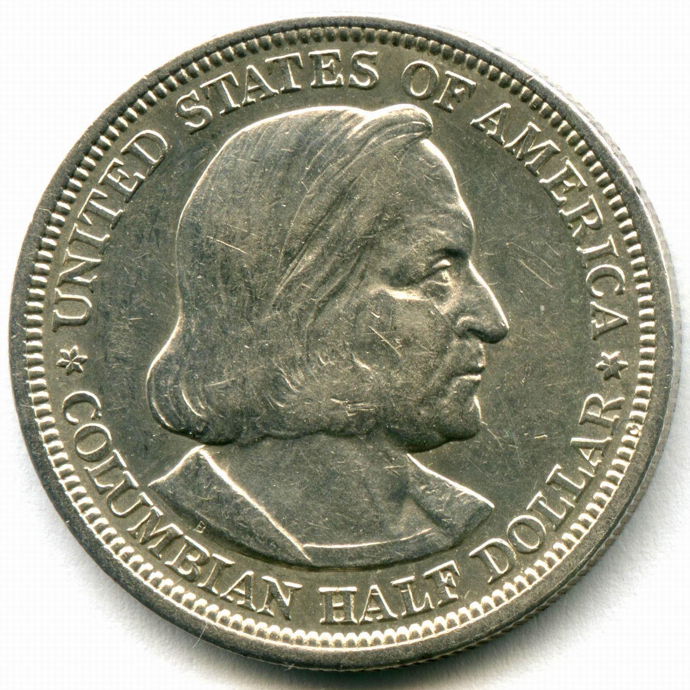 1/2 доллара США 1893 год XF+ (Колумб)