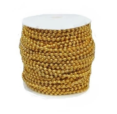 Бусы на бобине (размер: 4мм х 40м) Цвет:золотой