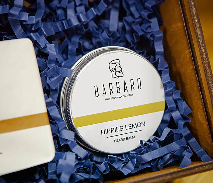 Набор для ухода за бородой Barbaro «Hippies Lemon»: мыло и бальзам фото 04