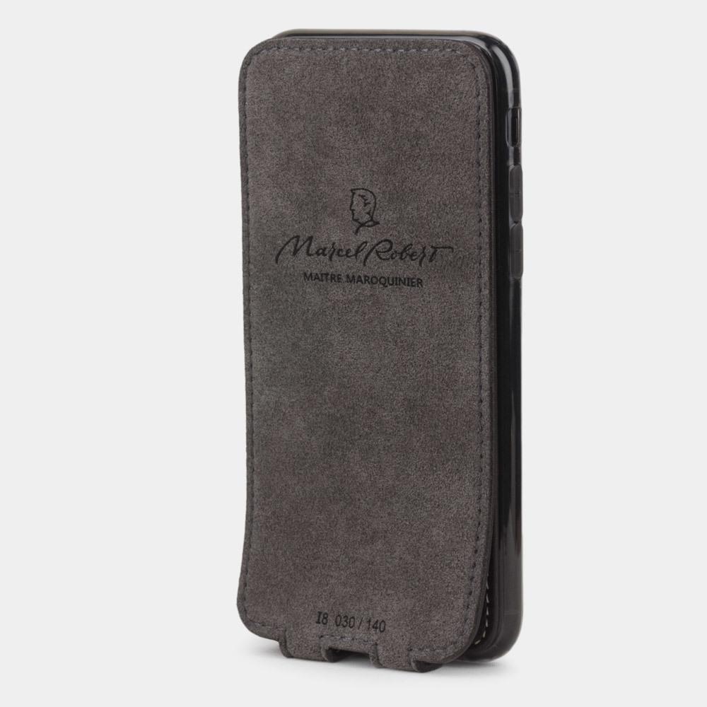 Чехол для iPhone 8/SE из натуральной кожи теленка, темно-коричневого цвета