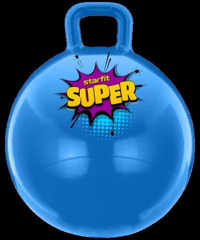 Мяч-попрыгун GB-0401, SUPER, 45 см, 500 гр, с ручкой, голубой, антивзрыв