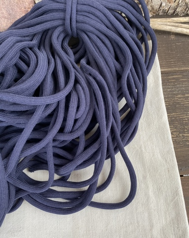 Шнур круглый 8мм, темно-синий