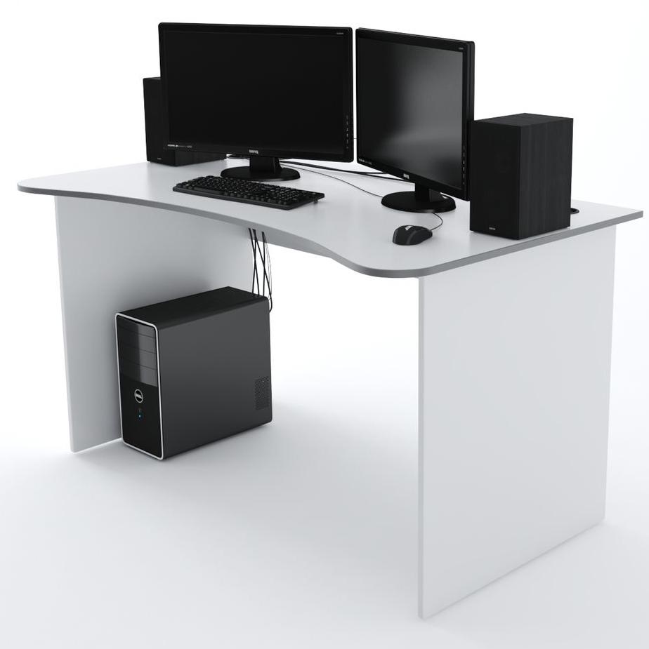 Стол Компьютерный SURF 1400 Белый/Серый