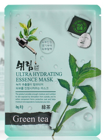 Маска тканевая для лица зеленый чай Shelim Hydrating Essence Mask