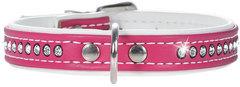 Ошейник для собак, Hunter Smart Modern Art Luxus, 27/11 (20-23,5 см), кожзам 1 ряд страз ярко-розовый