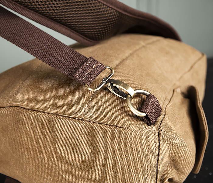 BAG394-2 Коричневый городской рюкзак с одной лямкой через плечо фото 08