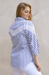 Астра. Літня сорочка великих розмірів. Блакитний.