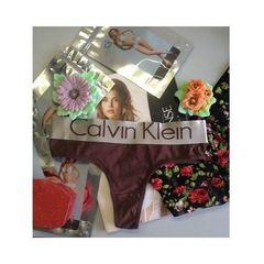 Женские трусы стринги Calvin Klein Women String Brown