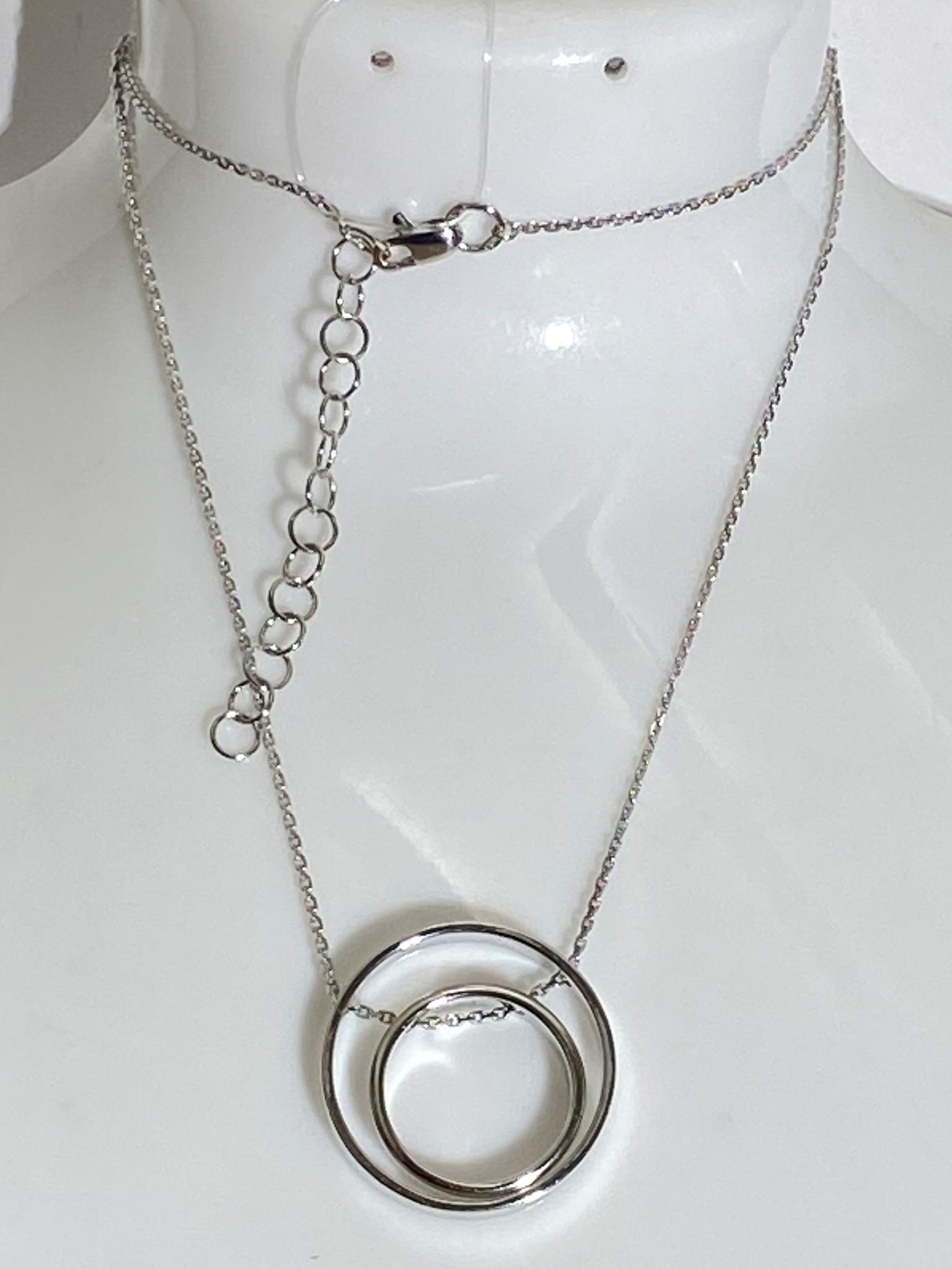 Кольца (колье из серебра)