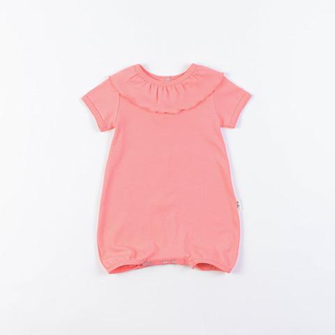 Ruffled bodysuit 0+, Coral