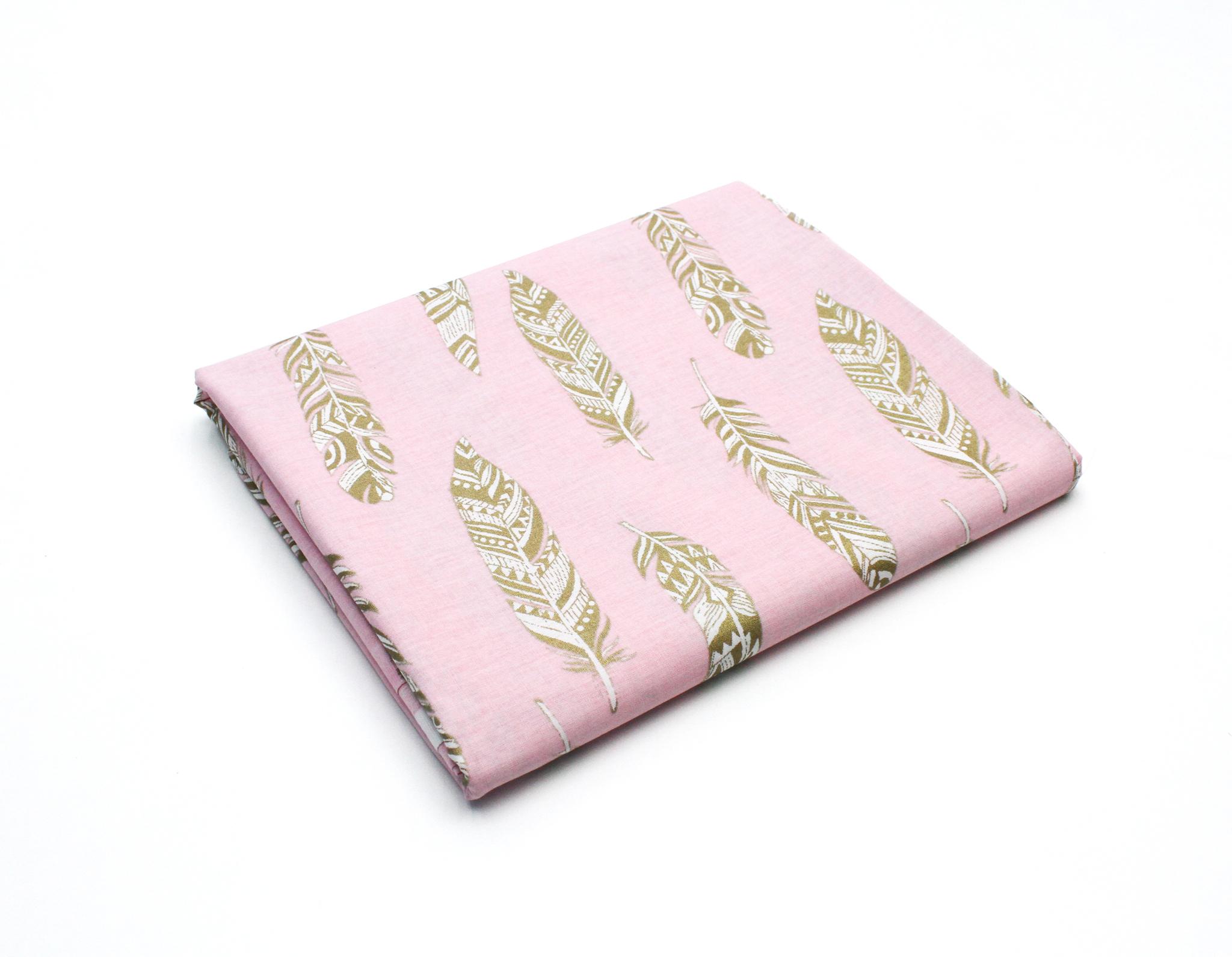 Перья золотые на розовом,240 см