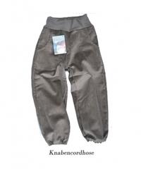 Вельветовые брючки Storchenkinder с карманами, Серо-зеленые