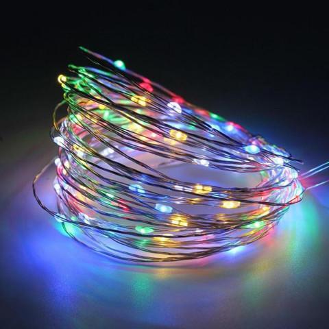 Хвіст-гірлянда на Мідному дроті 200 LED 10 гілок 2 м. тепло-білий